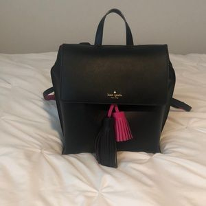 Like new Kate Spade blanc and pink backpack tote